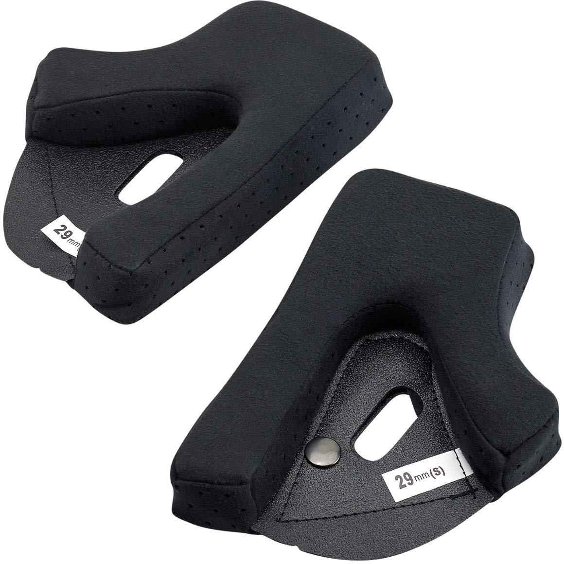 Biltwell Unisex-Adult Gringo S Cheek Pad Set (Black 21mm