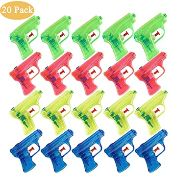 Queta Pistola de Agua Juguete para niños Fiesta en la Piscina Regalo de cumpleaños para niños, 20 Piezas, Color al Azar