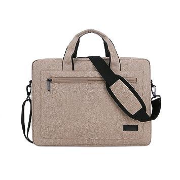 Jia Hu 1pc portátil maletín cartera hombro mensajero bolsa documento organizador para business College, color caqui: Amazon.es: Oficina y papelería
