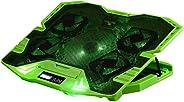 Master Cooler Gamer Verde Com Led Warrior, Suporte de Notebook - AC292