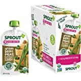 Sprout Stage 2 Organic Baby Food Pouches, Green Beans Peas Butternut Squash, Pack of 5