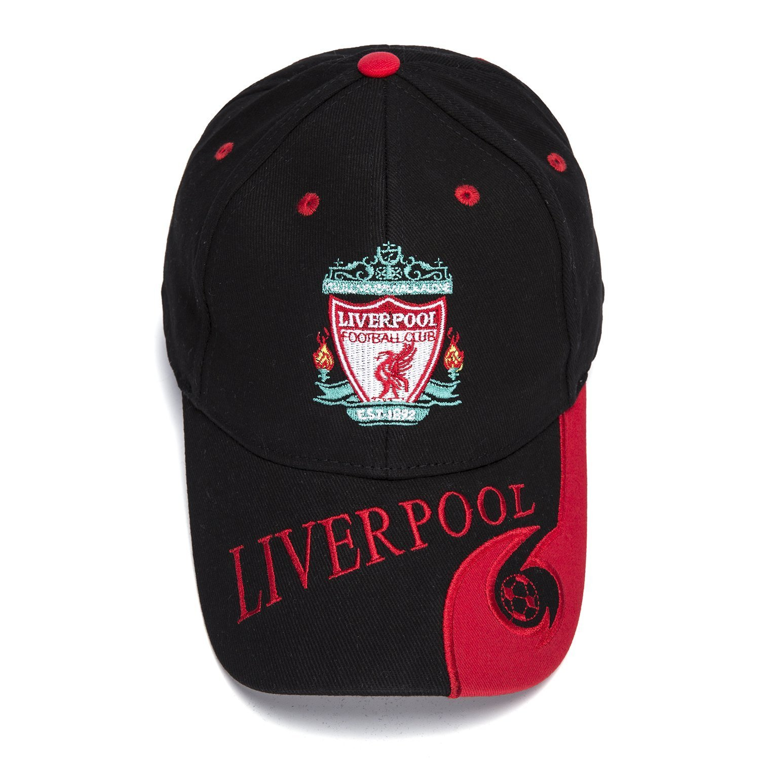 Amazon.com   FOOT-ACC Liverpool Team Cap Soccer Cap Hat New Season -  Embroidered Authentic Caps Black Baseball Cap   Sports   Outdoors b39af9308b8