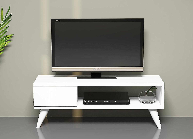 Maya mobile tv bianco porta tv lowboard set soggiorno in un