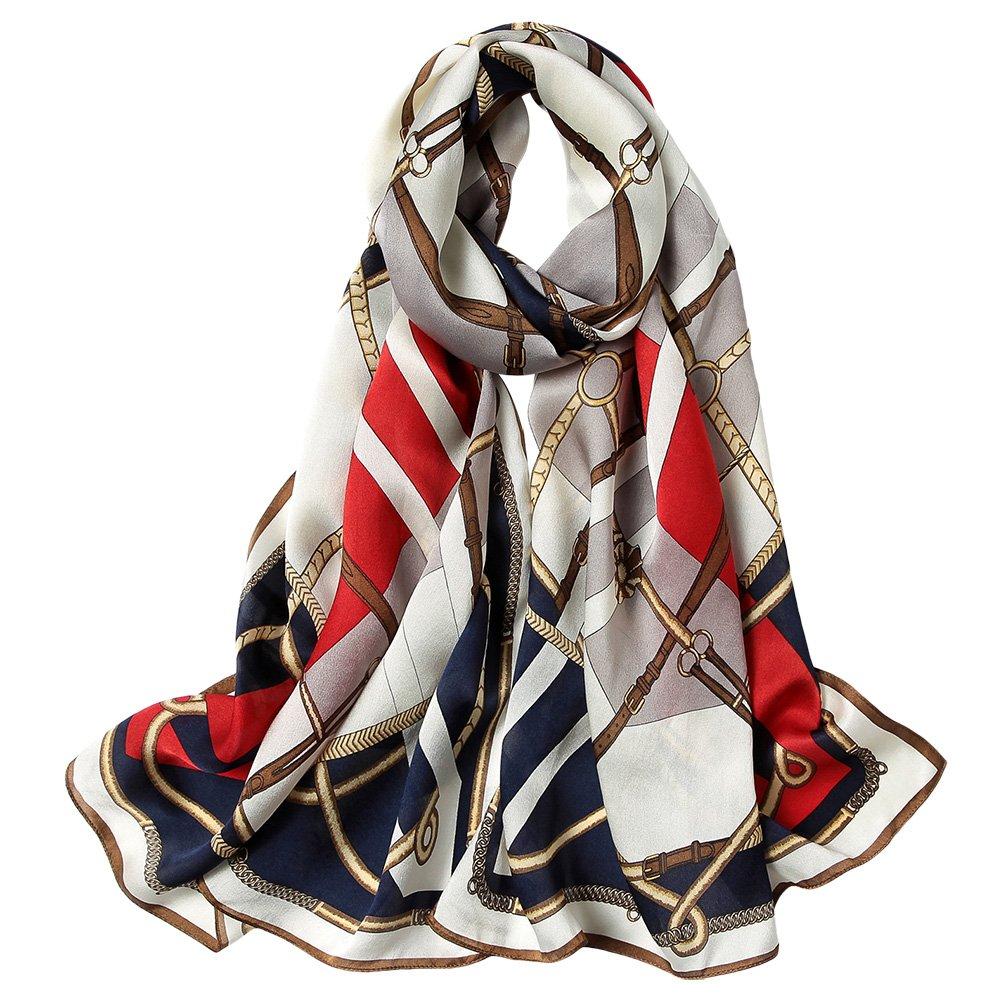 Smi&Love Women's 100% Mulberry Silk Scarf Print Shawl Wraps Scarves (yrxa02) by Smi&Love