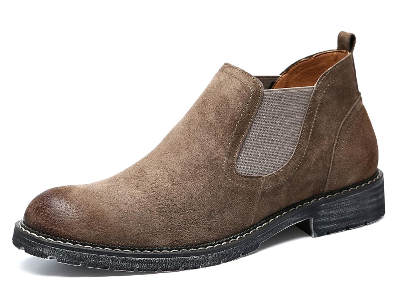 8f0ca14c618 Santimon Mens Ankle Chelsea Boots Suede Slip-on Fashion Stylish ...