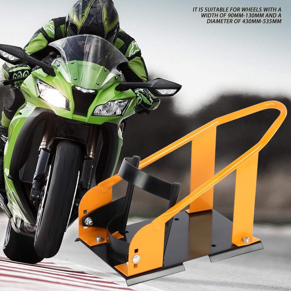 Zerone Soporte de la Rueda de la Motocicleta Cu/ña de la Rueda Soporte de Exposici/ón para Motos Adecuado para Ruedas con un Ancho de 90mm-130mm