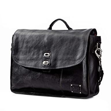 Amazon.com   Will Leather Goods Kent Messenger, Black   Messenger Bags 5f924eae4a