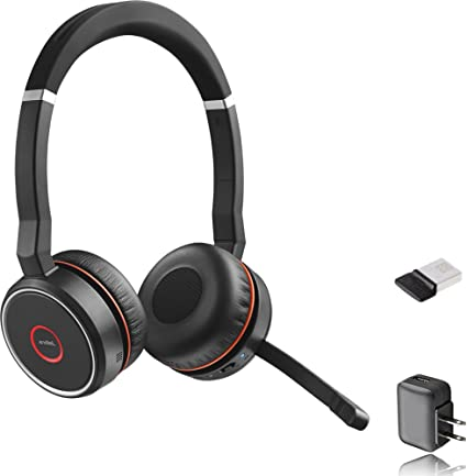 Amazon Com Jabra Evolve 75 Bluetooth Headset Bundle Uc Version Active Environmental Canceling Bonus Ac Adapter And Usb Dongle Compatible With Softphones Smartphones Mac Pc Headset Health Personal Care