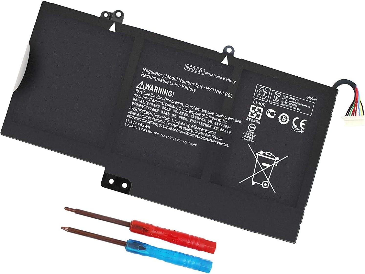 NP03XL 761230-005 Laptop Battery for HP Envy X360 15-U010DX 15-U011DX 15-U110DX 15-U111DX 15-U483CL 15-U493CL 15T-U100, Pavilion X360 13-A010DX 13-A012DX 13-A013CL 13-A110DX 13-A113CL HSTNN-LB6L