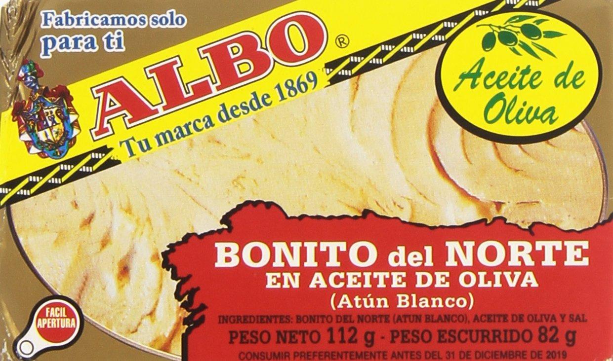 Albo Bonito Del Norte en Aceite de Oliva sin Gluten - 82 G: Amazon.es: Amazon Pantry