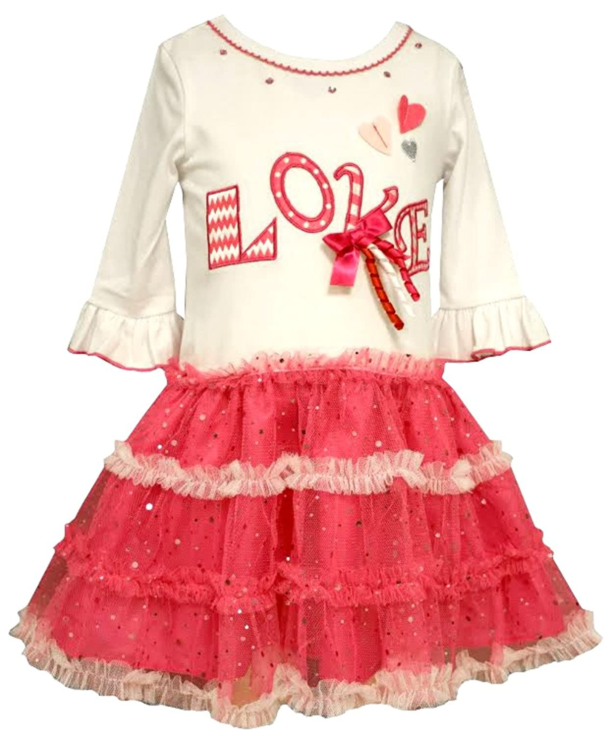 Bonnie Jean Little Girls Love Tutu Valentine's Day Dress