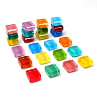 12-Pack Multi-Use Square Decorative Magnets for Refrigerator Office Magnets Kitchen Magnets Refrigerator Magnets Fridge Magnets for Whiteboard Magnets for Dry Erase Board (Big)