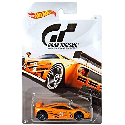 Hot Wheels McLAREN F1 GTR 2020 Gran Turismo Series #2 Orange McLAREN F1 GTR 1:64 Scale Collectible Die Cast Metal Toy Car Model #8/8: Toys & Games