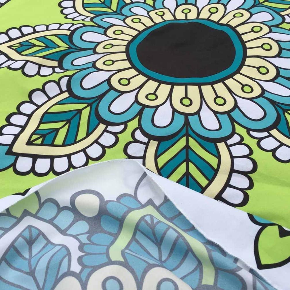 YANG-YI - Manta de yoga, toalla de yoga con impresión redonda de yoga: Amazon.es: Hogar