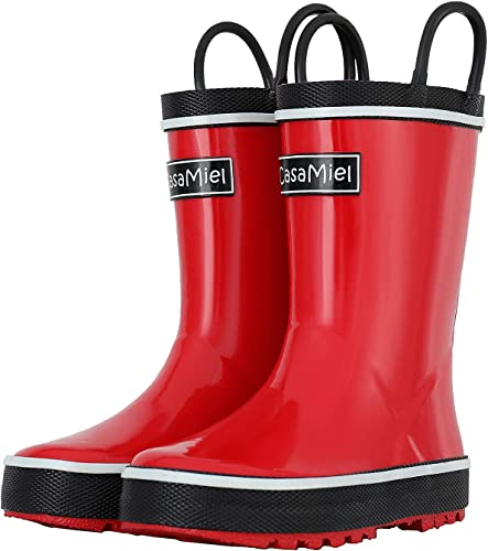 CasaMiel Kids Rain Boots for Boys