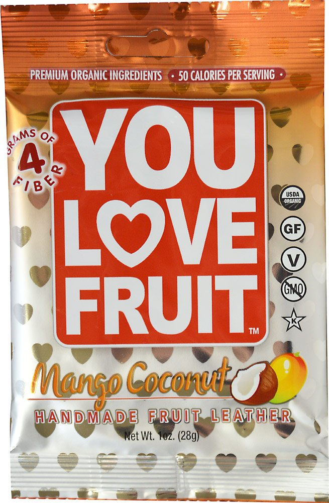 Youtheory You Love Fruit Leather Mango Coconut, 1 oz