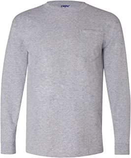 product image for Bayside 3055 - Union-Made Long Sleeve T-Shirt with a Pocket