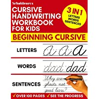 Cursive Handwriting Workbook for Kids: 3-in-1 Writing Practice Book to Master Letters, Words & Sentences
