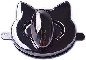 Bobeey 2sets Cat Shape Purses Locks Clutches Closures with Cat Shape,Purse Twist Lock BBL10 Black Gun