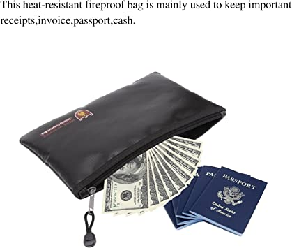 Ddfly Pasaporte Dinero iPad Bolsa Impermeable para Documentos con Cierre para Objetos de Valor Documentos Joyas