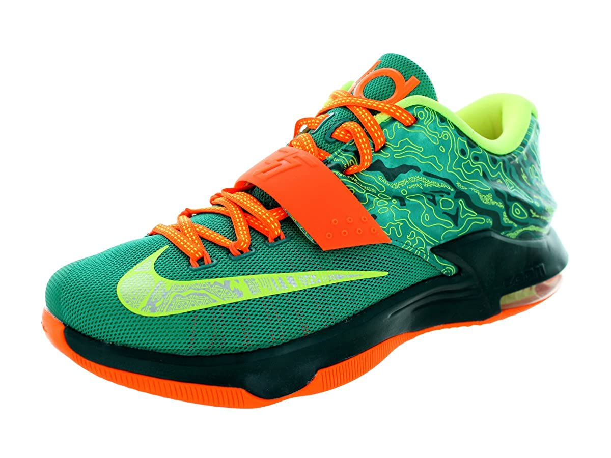 new styles c3b9c a1b03 Amazon.com   Nike KD VII Men Round Toe Synthetic Black Basketball Shoe    Basketball