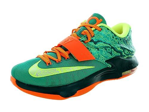 low priced 31bad 0af8f Nike Kd VII Emrld GRN Mtllc Slvr dk Emrld Basketball Shoe 9 Us