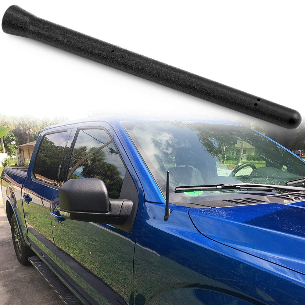 Bullet Antenna Replacement for 2012-2019 Dodge RAM 1500 2009-2019 Ford F150 Trucks 2.8 inches short antenna Designed for Optimized FM//AM Reception