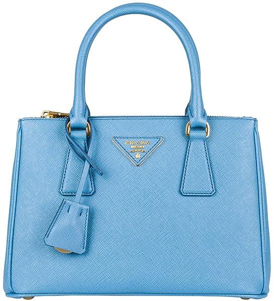 bf53fa16c3c4 ... official store prada saffiano galleria bag sea blue handbags amazon  bef4d 1f47d ...