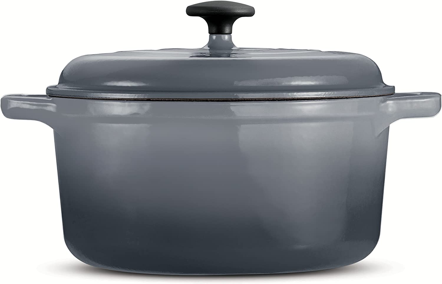 Tramontina 80131/632DS Style Enameled Cast Iron Round Dutch Oven, 6.5-Quart, Gradated Gray
