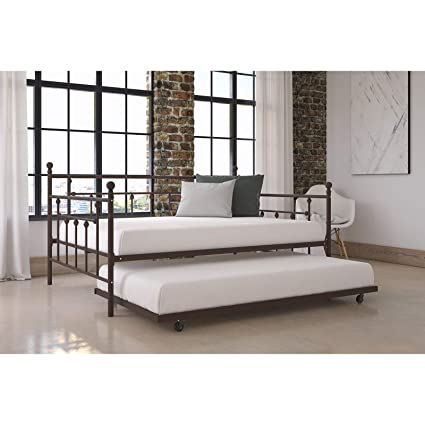 the best attitude 4db17 6b62f Amazon.com: Sturdy Manila Full Size Daybed with Twin Trundle ...