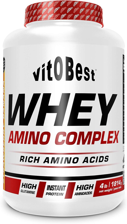 WHEY AMINO COMPLEX 4 lb FRESA-PLATANO - Suplementos Alimentación y Suplementos Deportivos - Vitobest