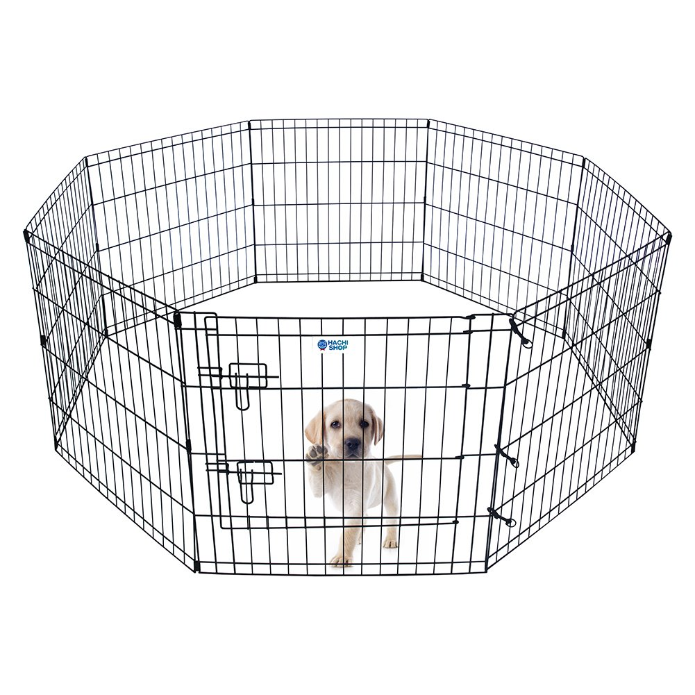 HACHI SHOP Pet Playpen Foldable Exercise Pen for Dogs Cats Rabbits - 24 inches (24'')