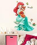 Decals Design Princes with Cute Little Cat' Wall Decal (PVC Vinyl, 70 cm x 50 cm x 70 cm, Multicolour)