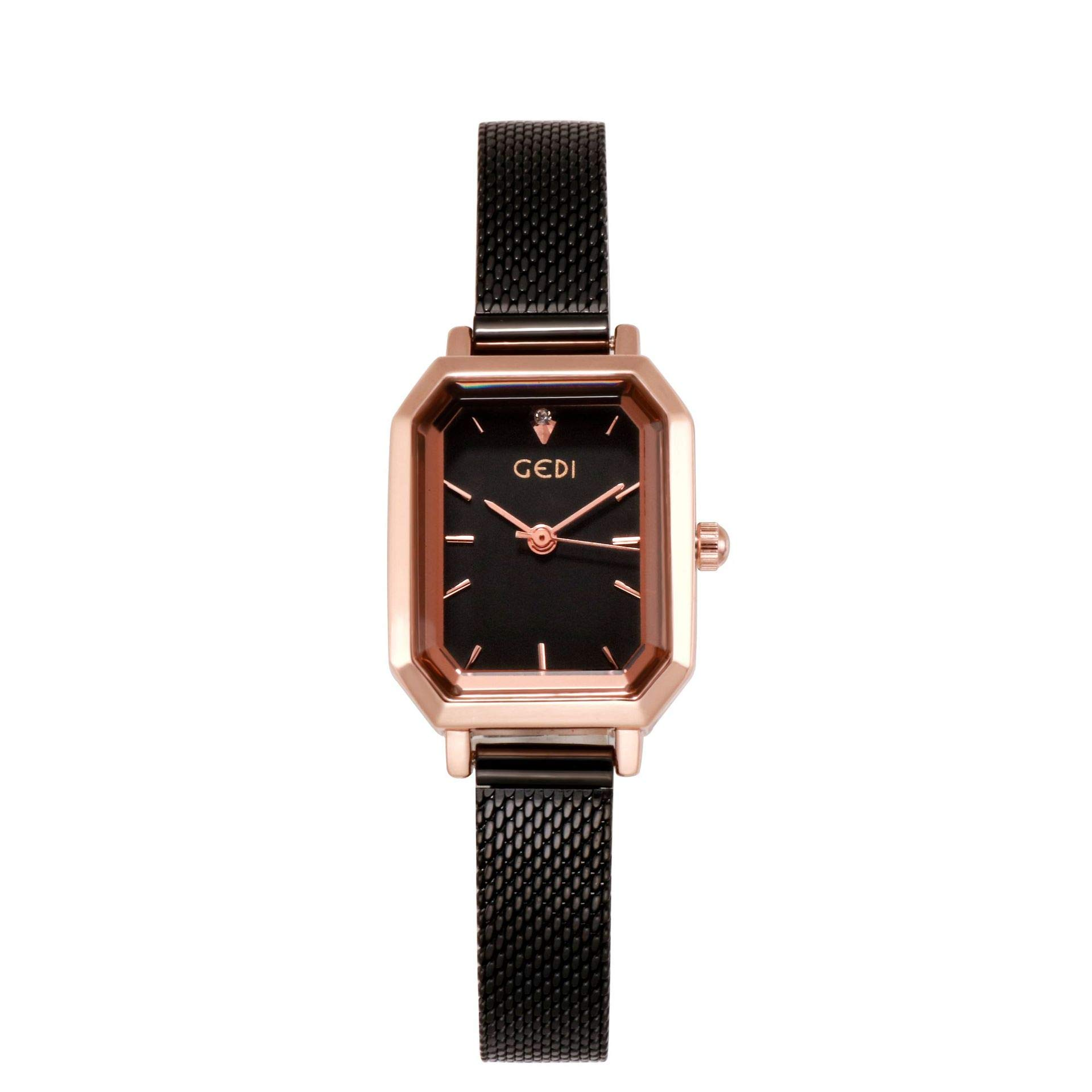 RONSHIN Gifts for Girls,Women's Bling Starry Dial Analog Waterproof Quartz Wrist Watches for Student Casual Office Rose Gold Shell White Plate by RONSHIN