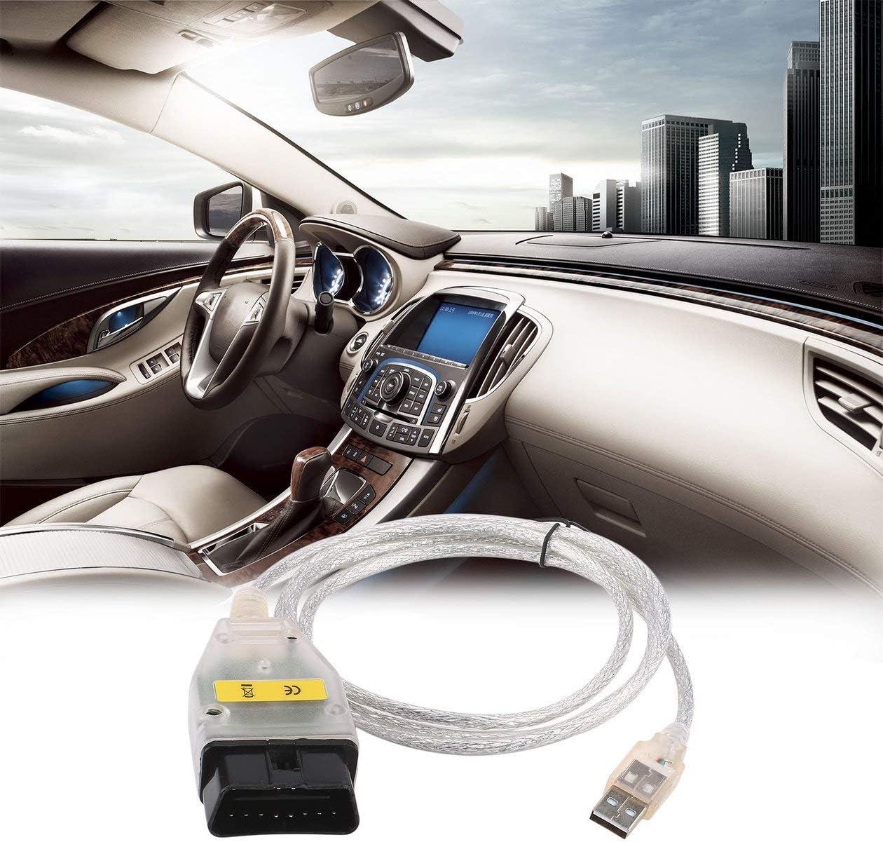 CAN C/âble dinterface USB Compatible INPA pour BMW K CAN Scan Reader Commutateur de c/âble de diagnostic et couleur: blanc FT232RL Commutateur INPA /à puce K