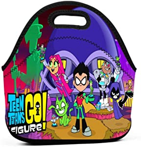 Te-En Ti-Tans G-O Lunch Bag Reusable Lunch Box Cartoon Durable Tote Bag With Premium Zipper Cute Meal Prep Food Container For Picnic Travel Fishing Work School For Kids Women Boys Men Adult