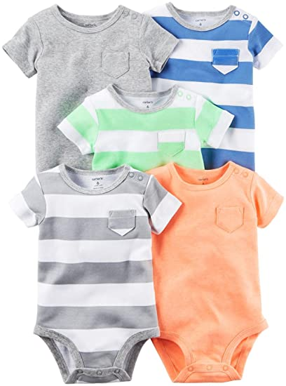 ed6bd6862 Amazon.com  Carter s Baby Boys  Multi-pk Bodysuits 126g626  Clothing