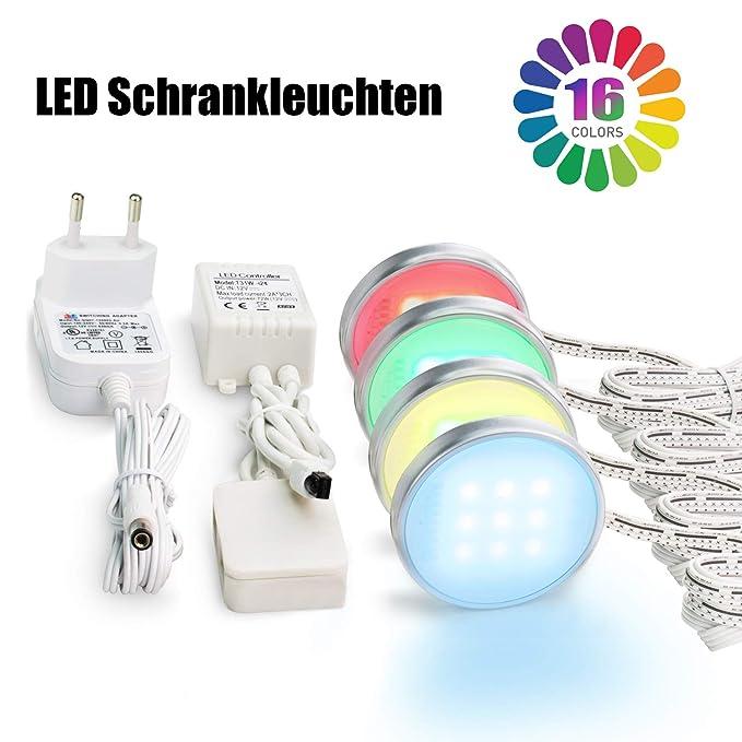 Deckenleuchten Leuchten, Vitrinenbeleuchtung LED Schrankleuchten SMD5050 Unterbauleuchte RGB Beleuchtung, LED Schrankbeleucht