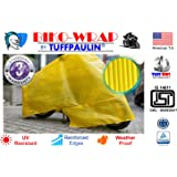 Tuffpaulin Tarpaulin Automobile Covers BIKO-WRAP Waterproof Tarpaulin Universal Bike Cover (Yellow)