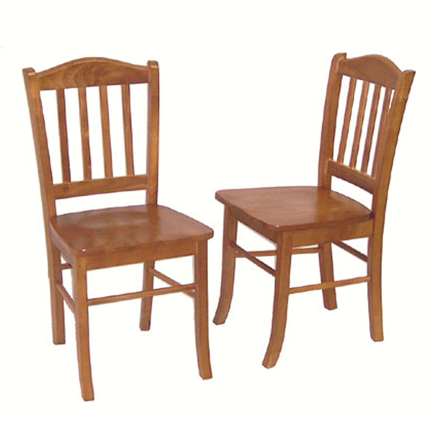 Amazon com boraam 30136 shaker chair oak set of 2 kitchen dining