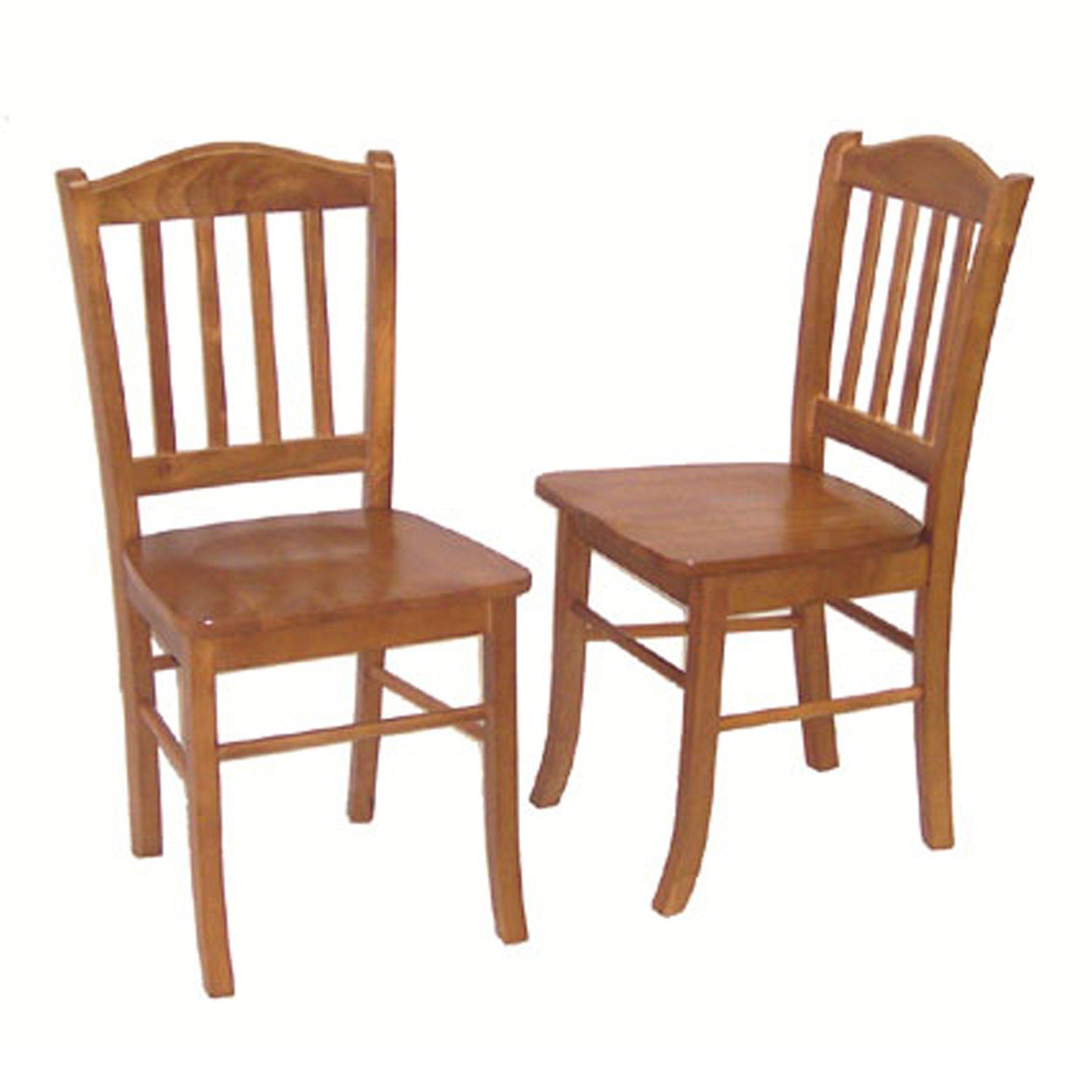 Boraam 30136 Shaker Chair, Oak, Set of 2 by Boraam