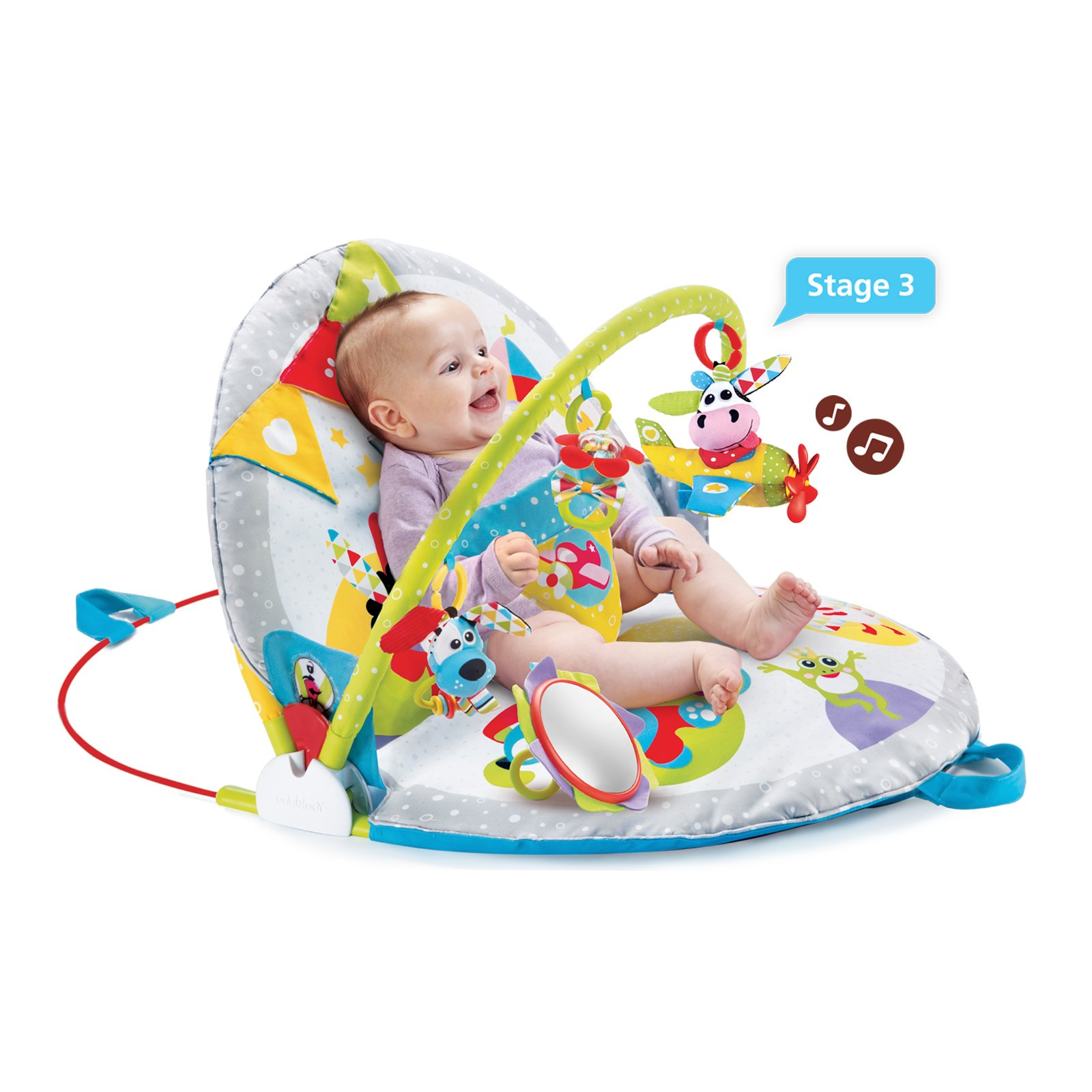 Yookidoo Gymotion Lay to Sit-Up Play Mat Infant Activity Toy for Baby 0 - 12 Month by Yookidoo (Image #5)