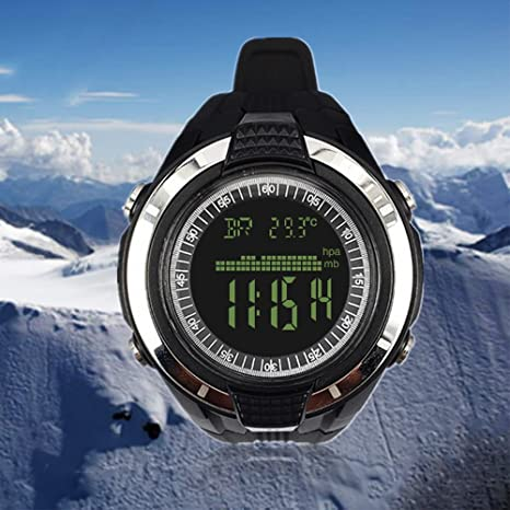umsky Camping reloj digital resistente al agua reloj de fitness con altímetro barómetro cronógrafo brújula y