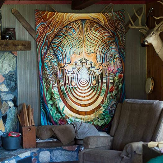Third Eye Tapestries Amanda Sage Sacred Garden Tapestry 60 by 76 INCHES