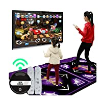Just Dance 2020, Double User Wireless Dance Mat Game Yoga Game TV Non-Slip, Non-Slip HDMI Wireless Home Fitness Dancer Step Pads With 150 Games and AUX Music, Sense Game for PC TV For 2 Person (HDMI Wireless)