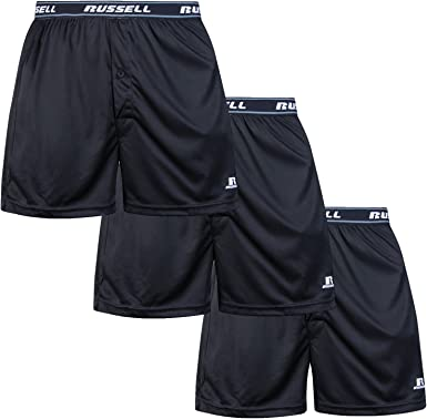 Russell Athletic Mens Big /& Tall Dri-Power Boxer Brief Black 1XL Profile RUS0001