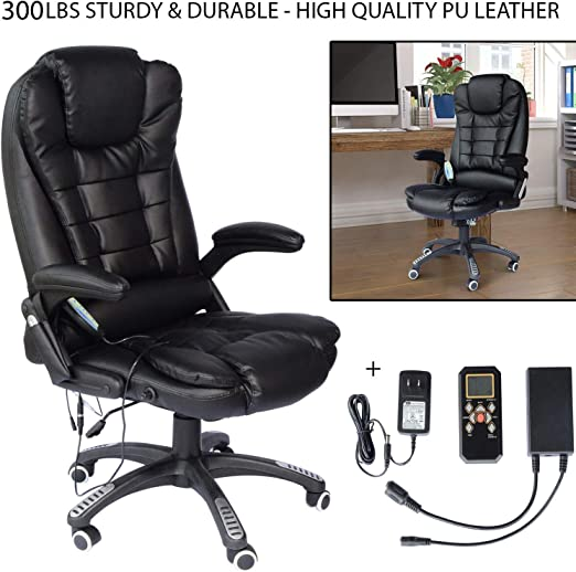 Business Industrial Chairs Stools Black Executive Office Massage Chair Vibrating Ergonomic Computer Desk Chair New Studio In Fine Fr