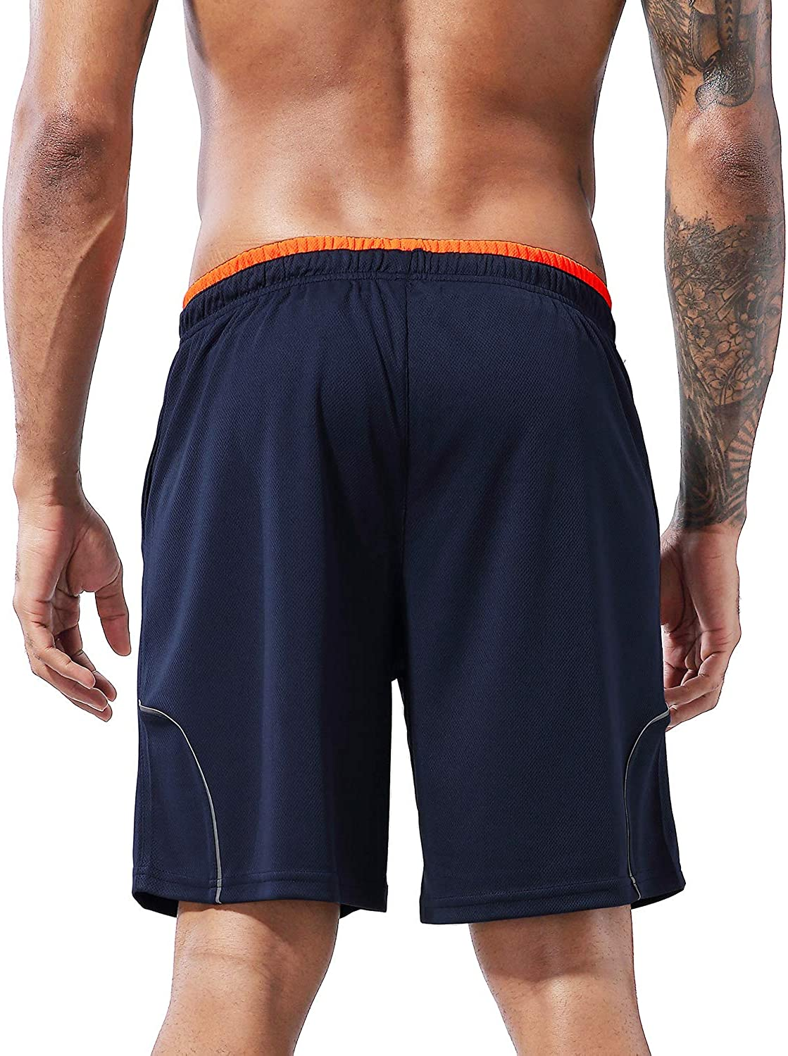 """1994Fashion Mens Running Shorts Gym Athletic Shorts with Pockets Quick Dry 7/""""for Sports,Trainning,Workout"""