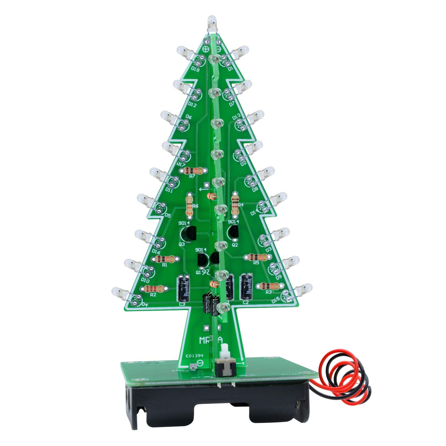 3D Weihnachtsbaum LED Blinklicht DIY Kit 7 Color Flash Circuit LED