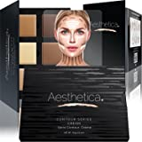 Aesthetica Cosmetics Cream Contour and Highlighting Makeup Kit- Contouring Foundation + Concealer Palette-Vegan,Cruelty free Hypoallergenic-Step by Step Instructions Included
